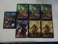 WORLD OF WARCRAFT AZEROTH OVERSIZE CCG 5x7 CARD LOT x7  RARE !!!!!  gm451