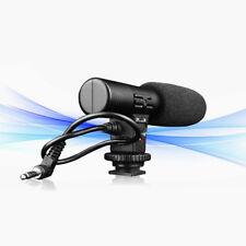 External DSLR DV Camera Camcorder Microphone Shotgun Mic for Canon Nikon Black