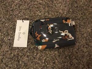 Vera Bradley Holiday Dogs Gray RFID Petite Zip Around Wallet 2021 Collection