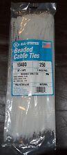 "All-States 250 14"" Reusable Adjustable Beaded Cable Zip Ties 18 lbs.USA"
