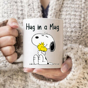 Snoopy hug in a mug cute woodstock birthday gift 11oz