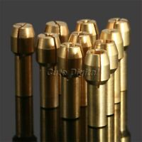 10Pcs 4.3mm Shank Brass Collet Chuck 0.5-3.2mm for Die Grinder Rotary Power Tool