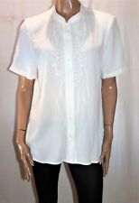 Millers Brand White Embroidered Floral Pattern Crinkle Top Size 14 BNWT #TL80