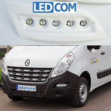 Daytime Running Lights DRL LED Pod Kit Renault Master Motorhome Ready To Paint