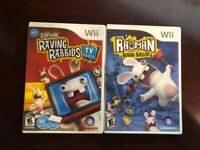 Nintendo Wii Rayman Raving Rabbids + TV Party - BOTH COMPLETE