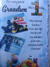 Grandson 1st - Birthday Card
