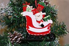 Personalizzata albero di Natale Decorazione Ornamento Babbo Natale Regalo Slitta