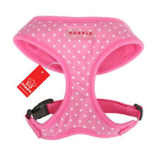 PUPPIA Dog Harness Dotty Pink Soft Collar Only Large - Pug Size X-small