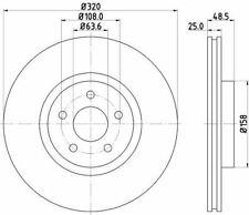 MINTEX MDC1800C BRAKE DISC Front