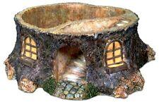 Stump House Planter Miniature Fairy Faerie Hobbit Gnome Garden  House MG 84
