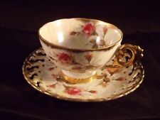 ROYAL SEALY TEA CUP & SAUCER - ROSE PATTERN - MADE IN JAPAN