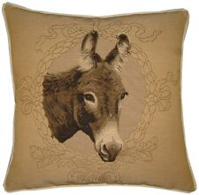 Donkey Mule Ass Cream Woven Tapestry Cushion Cover Sham