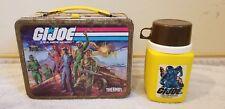 GI JOE Metal LUNCH BOX  w/ THERMOS 1982 Hasbro Vintage King-Seeley