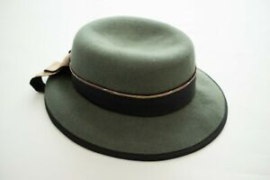 Ladies Barbour Bucket Wool Hat Cap Olive Size S - M