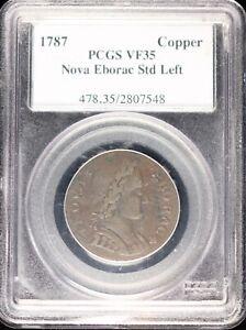 1787 Nova Eborac Copper, Std Left, PCGS VF35, Very Collectible Grade