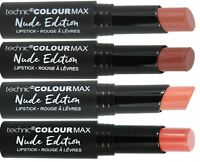 Technic Colour Max Nude Edition Lipstick Long Lasting Cream Natural Naked Lips