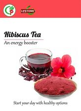 Hibiscus Flower Tea, Lowers Blood Pressure,Antidepressant 60 Tea bags 120 grams.
