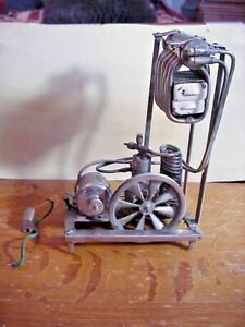 Antique PATENT MODEL of REFRIGERATION SYSTEM to Make ICECUBES with DC Motor