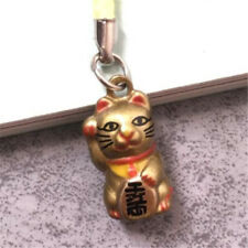 Maneki Neko Fortune Lucky Beckoning Cat Keyring Keychain Key Ring Chain Gift P