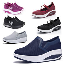 Womens Toning Shape Ups Platform Wedge Walking Sports Shoes Trainer Swing Loafer