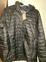 NWT!! Men's Patagonia Nano Puff Hoody.  Medium..Black.. Free shipping!!