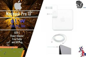 """61W USB-C Power Adapter (Charger) and Cable for Macbook Pro 13""""  A1718"""