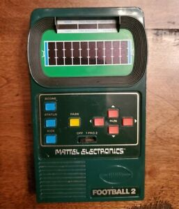 vintage Mattel Electronic Hand Held Football 2 game