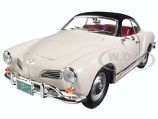 1966 VW VOLKSWAGEN KARMANN GHIA WHITE 1:18 DIECAST CAR BY ROAD SIGNATURE 92198