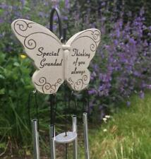 Special Grandad Graveside Memorial Tribute Butterfly Wind Chime DF15019A