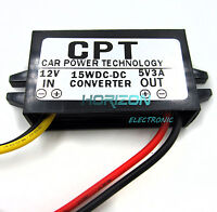 DC/DC Converter Regulator 12V to 5V 3A 15W Car Led Display Power Supply Module