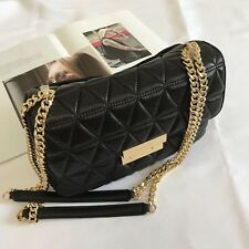 3e5310f49247 100% MICHAEL KORS Quilted Black Lamb Leather SLOAN Shoulder Bag BRAND NEW    TAGS