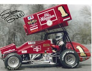 Autographed Sammy Swindell World of Outlaws Sprint Car Racing Photograph