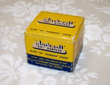 """Box/10,000 Vintage MARKWELL """"SX"""" 3/16"""" Legs PACEMAKER Sta-Plyer Staples NOS"""
