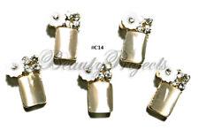 5pc Nail Art Charms 3D Nail Rhinestones Decorations Perfume Bottle Bling - C14