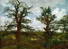 Metal Sign Friedrich Caspar David Landscape With Oak Trees And A Hunter A4 12x8