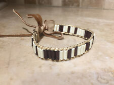 Wampum Glass bracelet native made Mountain Man rendezvous cherokee Regalia