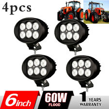 4X 6inch 60W LED Work Light Flood Fog Lamp for Tractor Offroad ATV Truck Boat