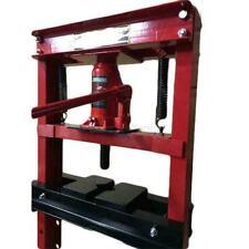 12-Ton Shop Press Floor H-Frame Press Plates Hydraulic Jack Stand Equipment