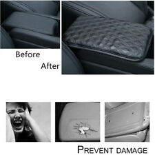 Car Armrests Cover Black PU Leather Durable Center Console Box Pad Dust-proof 1X