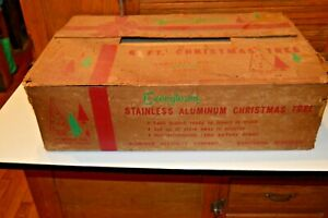 Vintage Evergleam 6 FT Silver Aluminum Christmas Tree with 94 branches with Box