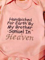 PERSONALISED RAINBOW BABY COTTON PINK, WHITE, BLUE BABY VEST/BODYSUIT BOY/GIRL