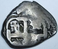 1726 Potosi Spanish Silver 1 Real Piece of 8 Reales Colonial America Cob Coin