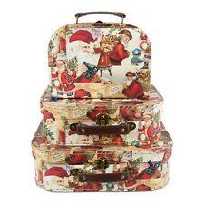 Juego de 3 maletas Navidad Santa Collage de almacenamiento para Niños Regalo Sass & Belle