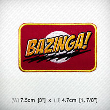 The Big Bang Theory TV Series Bazinga! Embroidered iron on patch, D.I.Y