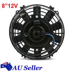 Universal 8inch Slim Fan Push/Pull Electric Radiator Cooling Engine Kit Truck