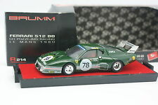 Brumm 1/43 - Ferrari 512 BB Le Mans 1980 Pozzi N78
