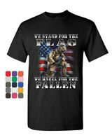 We Stand for the Flag T-Shirt Veteran Military POW MIA Army Navy Mens Tee Shirt