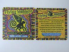 Beer Collectible Coaster <> FLYING MONKEYS Craft Brewery ~ Ontario, CANADA Weird
