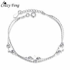Foot Ankle Bracelet Chain Anklet Women's 925 Sterling Silver Heart Star
