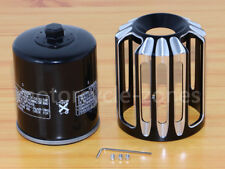 USA Cut Oil Filter Cover TRIM+Black Oil Filter For Harley Touring Dyna Twin Cam